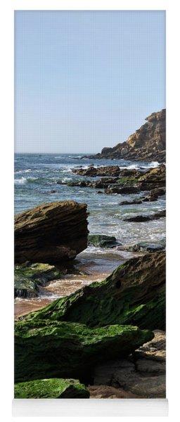 View Of Santa Rita Beach In Torres Vedras Yoga Mat