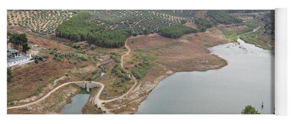 View Of The Lake In Iznajar Yoga Mat