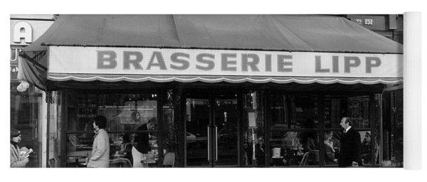 View Of The Lipp Restaurant In Saint Germain Des Pres In Paris On March 2, 1979 Yoga Mat