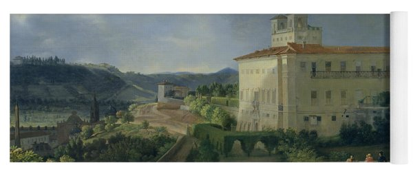 View Of The Villa Medici In Rome Yoga Mat