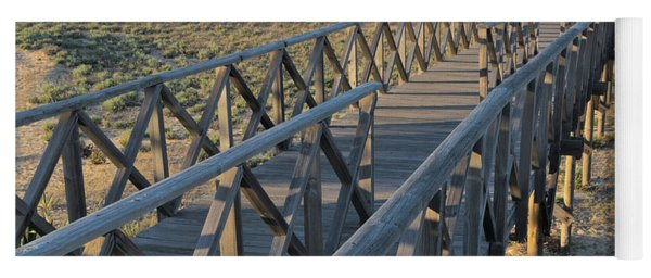 View Of The Wooden Bridge In Quinta Do Lago Yoga Mat