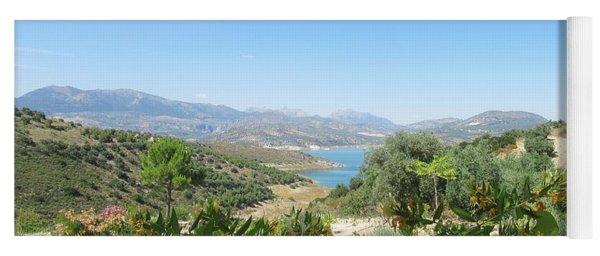 View On The Lake Near Iznajar Yoga Mat