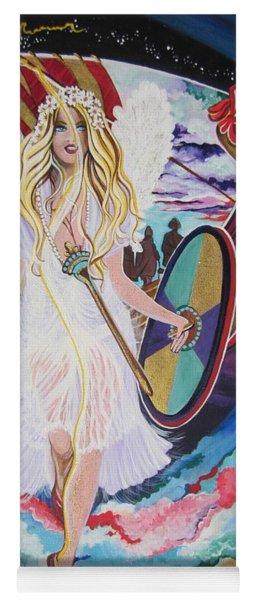 Blaa Kattproduksjoner   Welcomes Viking Goddess  To  Egypt Yoga Mat