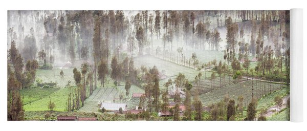 Village Covered With Mist Yoga Mat