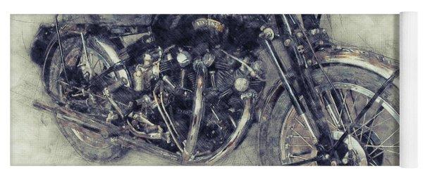 Vincent Black Shadow 1 - Standard Motorcycle - 1948 - Motorcycle Poster - Automotive Art Yoga Mat