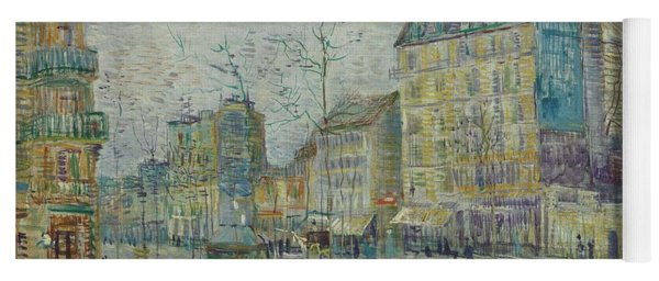 Yoga Mat featuring the painting Vincent Van Gogh  The Boulevard De Clichy, Paris by Artistic Panda