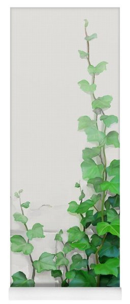 Yoga Mat featuring the painting Vines By The Wall by Ivana