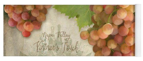 Vineyard - Napa Valley Vintner's Touch Pinot Grigio Grapes  Yoga Mat