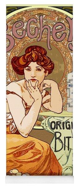 Vintage Art Nouveau Bechers Original Bitter 1807 Yoga Mat