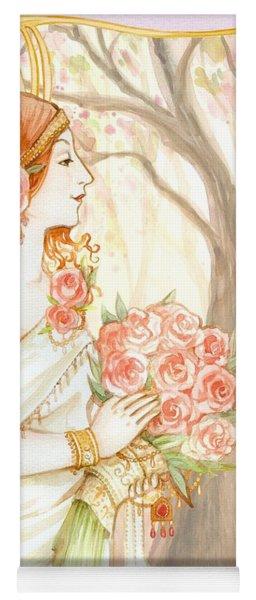 Vintage Art Nouveau Flower Lady Yoga Mat