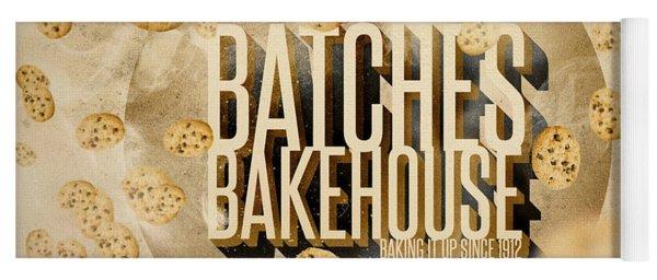 Vintage Bakery Ad - Batches Bakehouse Yoga Mat