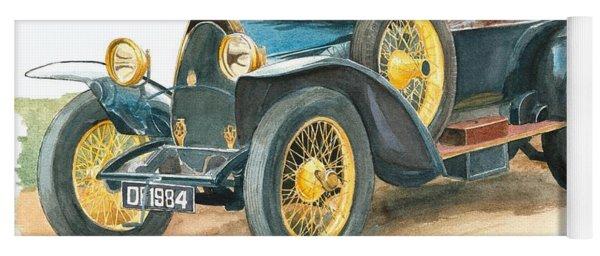 Vintage Blue Bugatti Classic Car Yoga Mat