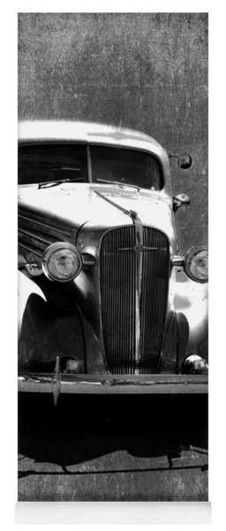 Vintage Car Art 0443 Bw Yoga Mat