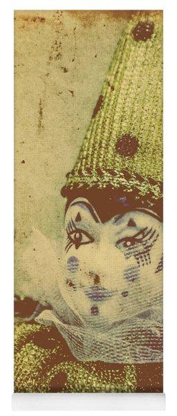 Vintage Circus Postcard Yoga Mat