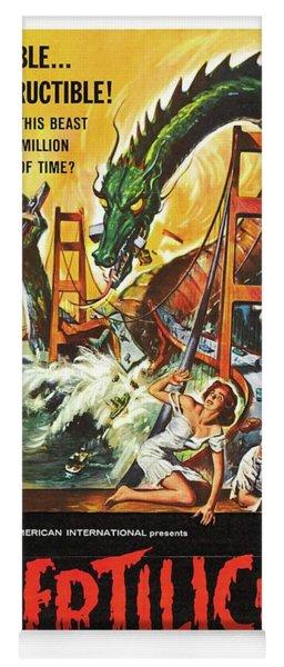 Vintage Classic Movie Posters, Reptilicus Yoga Mat