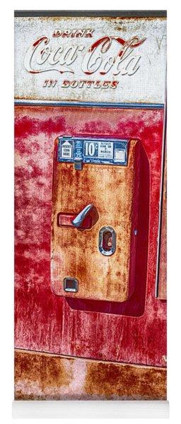 Vintage Coca-cola Machine 10 Cents Canvas Print,photographic Print,art Print,framed Print, Yoga Mat