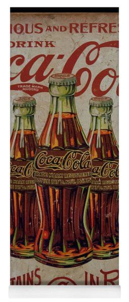 vintage Coca Cola sign Yoga Mat