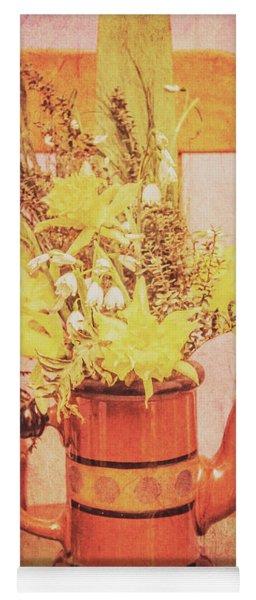 Vintage Fine Art Still Life With Daffodils Yoga Mat