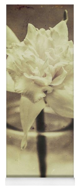 Vintage Floral Still Life Of A Pure White Bloom Yoga Mat