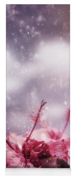 Vintage Flower In The Summer Rain Yoga Mat