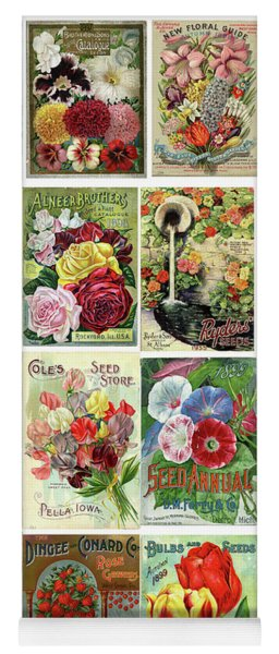 Vintage Flower Seed Packets 1 Yoga Mat