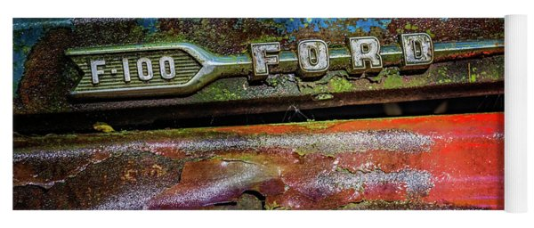 Vintage Ford F100 Yoga Mat