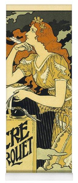 Vintage French Advertising Art Nouveau Encre L'marquet Yoga Mat