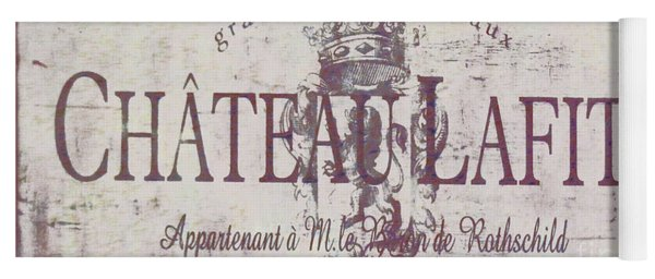 Vintage French Wine Sign Yoga Mat