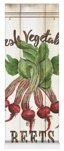 Vintage Fresh Vegetables 1 Yoga Mat