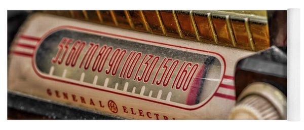 Vintage G.e. Radio Yoga Mat