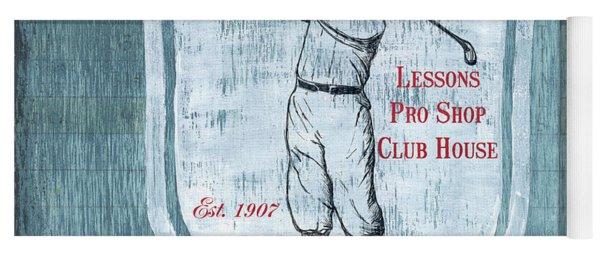 Vintage Golf Blue 1 Yoga Mat