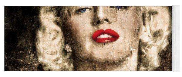 Vintage Grunge Goddess Marilyn Monroe  Yoga Mat