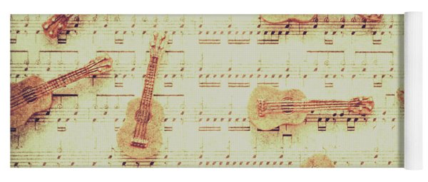Vintage Guitar Music Yoga Mat
