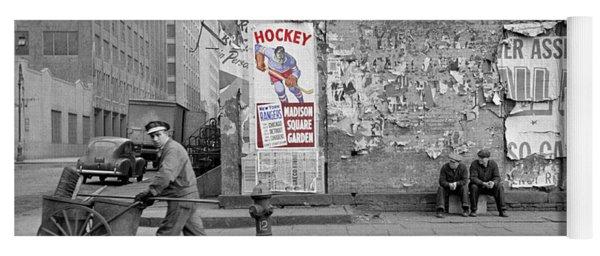 Vintage Hockey Poster Yoga Mat