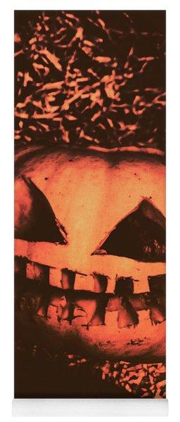 Vintage Horror Pumpkin Head Yoga Mat