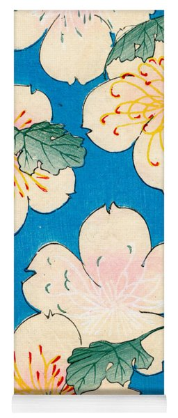 Vintage Japanese Illustration Of Dogwood Blossoms Yoga Mat