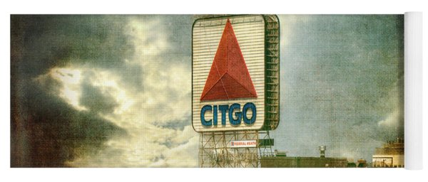 Vintage Kenmore Square Citgo Sign - Boston Red Sox Yoga Mat