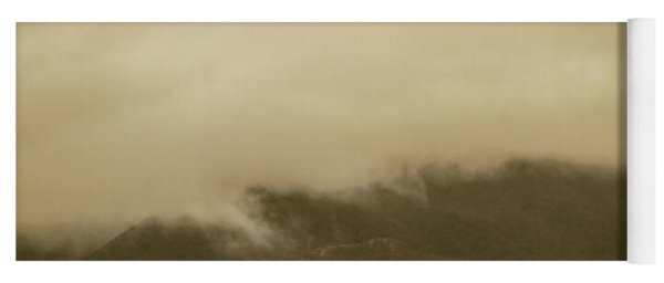Vintage Mountains Covered By Cloud Yoga Mat