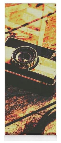 Vintage Old-fashioned Film Camera Yoga Mat