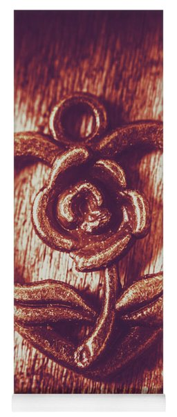 Vintage Ornamental Rose Yoga Mat