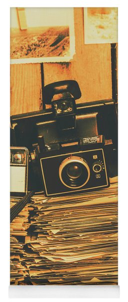 Vintage Photography Stack Yoga Mat