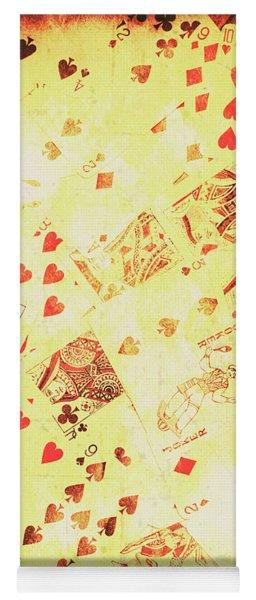 Vintage Poker Background Yoga Mat