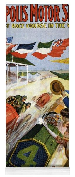 Vintage Poster Advertising The Indianapolis Motor Speedway Yoga Mat
