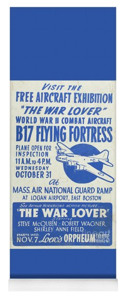 Vintage Poster For The War Lover Aircraft Exhibition Yoga Mat