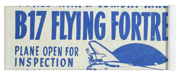 Vintage Poster For The War Lover Aircraft Exhibition II Yoga Mat