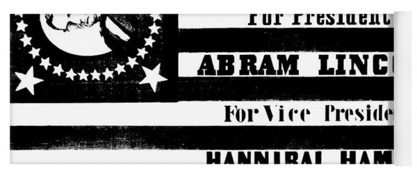 Vintage Presidential Campaign Flag Of Abraham Lincoln For President Yoga Mat