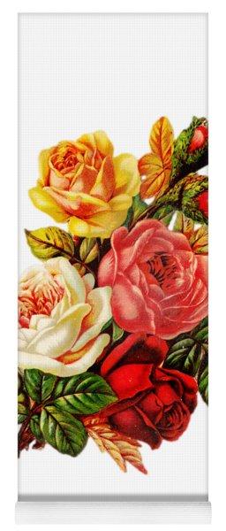 Vintage Rose I Yoga Mat