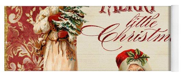Vintage Santa Claus - Glittering Christmas Yoga Mat