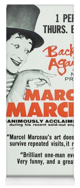 Vintage Show Poster Marcel Marceau Yoga Mat
