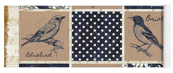 Vintage Songbird Patch 2 Yoga Mat